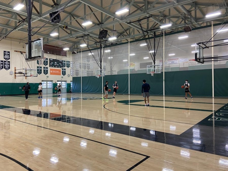 Boys Basketball practicing at Pacifica High School